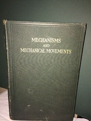 Mechanisms And Mechanical Movements Antique Book 1920!
