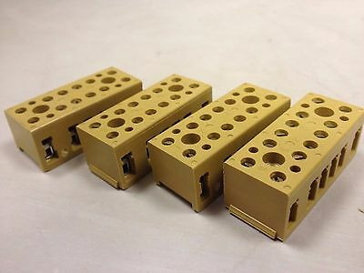 4 X Weidmuller Bk6 Terminal Block 6 Pole 400V 7906090000 P5Pc# - New Old Stock