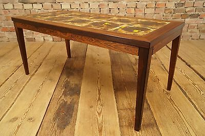 60s Mid-Century ROSEWOOD COFFEE TABLE TABLE COFFEE table Danish Modern Ceramics