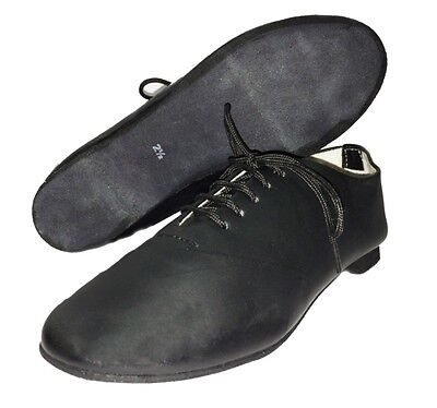 Jazz Modern Leather Dance Shoes Full Suede Sole