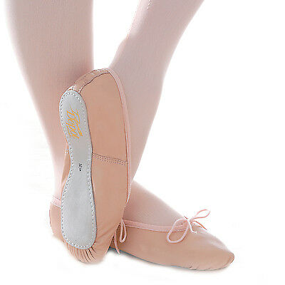 Full sole Leather Ballet Shoes (Pink,Black,White,Red)