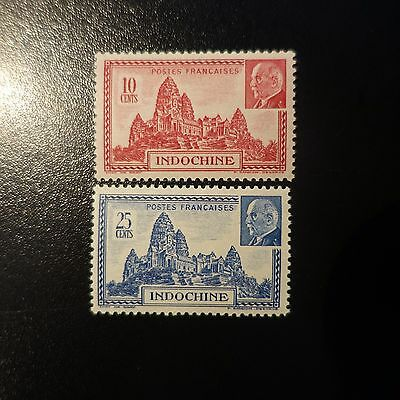 France Colonie Indochine N°222/223 Neuf ** Luxe Mnh