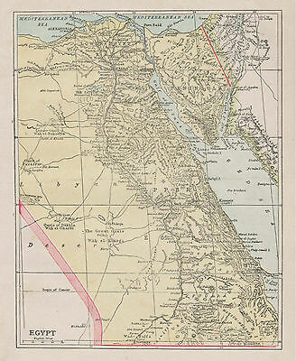 A small detailed map of Egypt c1904