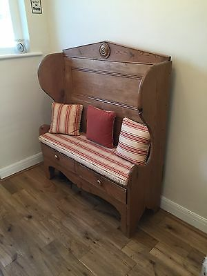 Antique Monks Bench, Pine Bench.