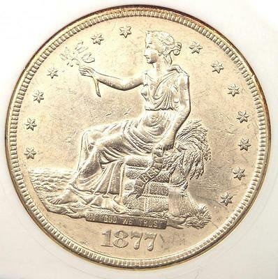 1877-S Trade Silver Dollar T$1 - Certified ANACS AU Details - Rare Coin!