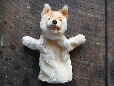 "Vintage Steiff 9"" Fox Mohair Hand Puppet Glove No Tag ID Stuffed Animal"
