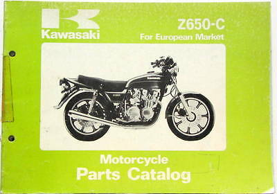 1978 Moto Kawasaki Z 650 C  For European Market Parts Catalog