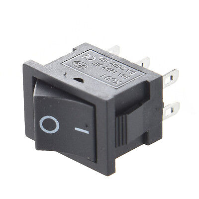 10pcs AC 6A/250V 10A/125V 6 Pin DPDT ON/ON 2 Position Snap in Boat Rocker Switch