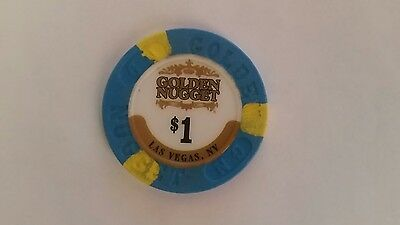 Las Vegas, NV Nevada - Golden Nugget - $1 Casino Chip - One Dollar