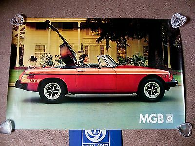 "NOS British Leyland Canada 1976 MGB Mark IV Factory Dealer Poster 36"" x 24"""