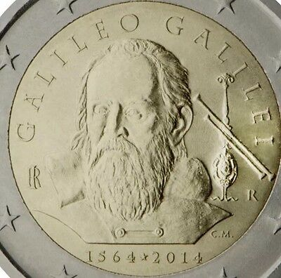Italy 2 Euro Commemoratice Coin 2014 Galileo New BUNC From Roll