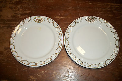 JACKSON CHINA hotel train restaurant ware Plate lot NEW ENGLAND OYSTER HOUSE adv