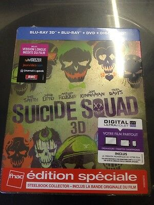 Suicide Squad 3D  2016   Blu Ray Steelbox Neuf