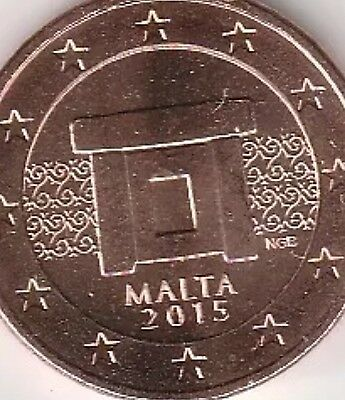 Malta 5 Cents Euro Coin New BUNC from Roll Shinny Beautiful