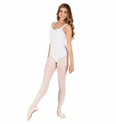 Adult Pinch Front Tank Cotton Dance Leotard Adult Medium -White