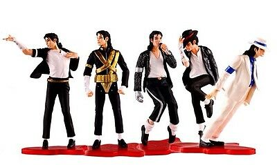 "Set of 5 Michael Jackson Figures 4"" Figurine MJ Statue Collection FREE SHIPPING"