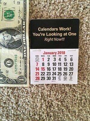 2018  Peel & Stick Dash Calendar ~early order special~free postage~no sales tax