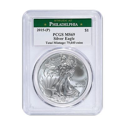 2015 (P) American Silver Eagle PCGS MS-69 Philadelphia Label