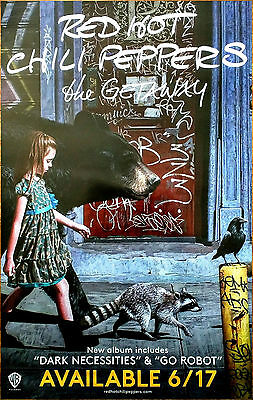 RED HOT CHILI PEPPERS The Getaway 2016 Ltd Ed RARE Poster +FREE Rock Poster RHCP