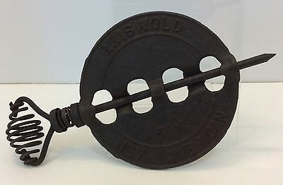 """Vintage Griswold Cast Iron 5"""" New American Reversible Steel Spindle"""