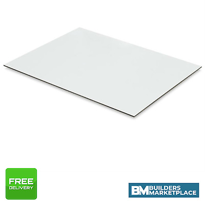 White Faced Hardboard - 3.2mm Hardboard Sheets