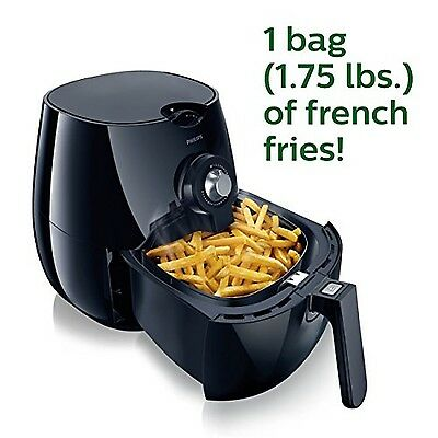 Philips Airfryer The Original Airfryer Fry Healthy with 75% Less Fat Black HD9