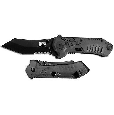 "S&W MP2 Knife 2.8"" 4034 Stainless Steel Blade & Black Aluminum Handle SW-MP2BS"