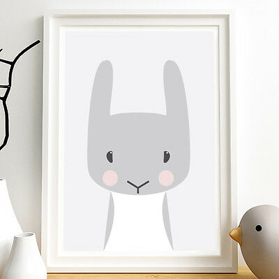 Woodland animals, Animal nursery art, Bunny, Nursery decor, Nursery animal