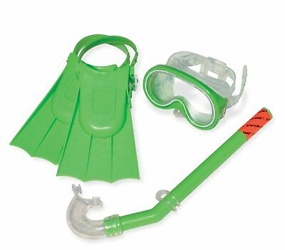 Swimline Otter Swim Set with Mask Snorkel and Fin for Kids - Green