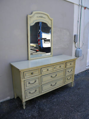 French Dresser with Mirror by Dixie Furniture Company 956