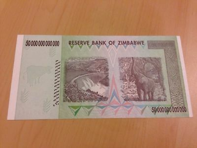 MAKE OFFER ~ 1 Zimbabwe 50 Trillion Dollars($) AA 2008 UNC~LIMITED TIME OFFER