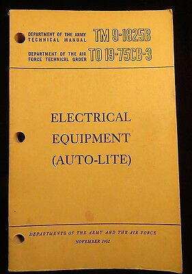 WWII US Army -  Field Guide  -  Electrical Equipment (Auto-Lite)  1952 (891)