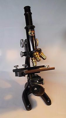 Vintage Chicago Lens & Instrument. CLICO Bausch & Lomb MICROSCOPE