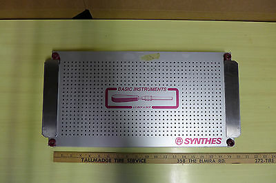 Aluminum Alloy sterilization autoclave tray case surgical instrument / Synthes