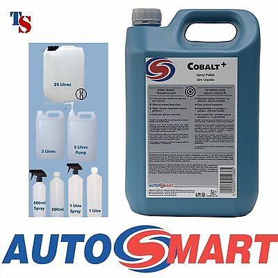 Autosmart Cobalt + 5L 5 Litre (Spray Polish Protect Ionic Nano GENUINE) *NEW*
