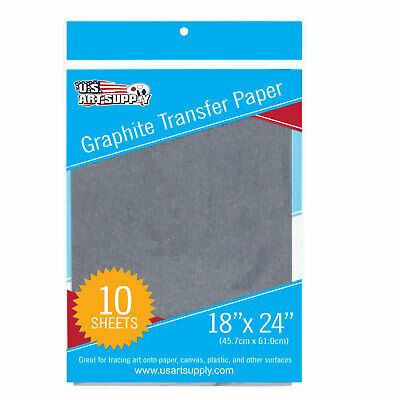 "U.S. Art Supply Graphite Carbon Transfer Paper 18"" x 24"" - 10 Sheets"