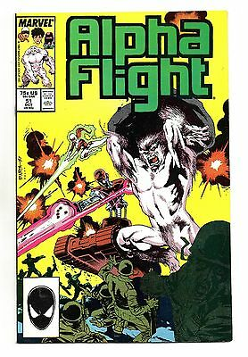 Alpha Flight Vol 1 No 51 Oct 1987 (VFN+) Marvel, 1st Jim Lee art at Marvel
