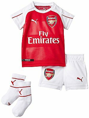 Arsenal Baby Kit Home Kit Shirt and Shorts & Socks 100% Official AFC Puma