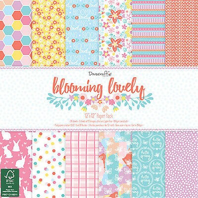 Dovecraft 12x12 Blooming Lovely FULL PACK - Cardmaking & Scrapbooking