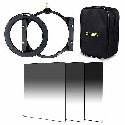 ZOMEI GND ND2+ND4+ND8 Filter+Adapter Ring+ Holder+16 Case For Cokin Z Pro LEE