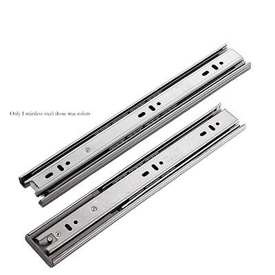 "Ball Bearing Full Extension 10""-24"" Soft Close Drawer Slides stainless steel 137"