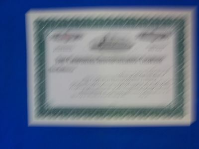 Stock Cert.: The California Transportation Co., (S7179)
