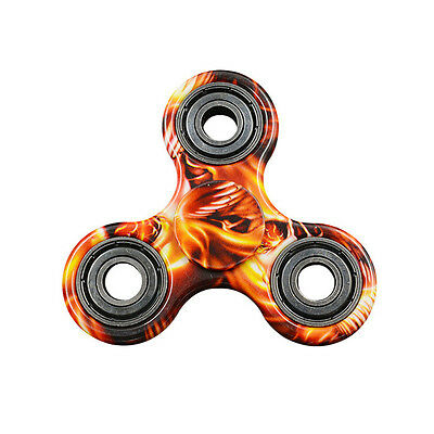 Flame Tri Fidget Hand Finger Spinner EDC Stress Reliever Toy For Adult & Kids