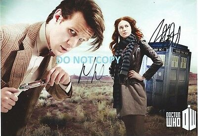 Dr Who - Hand Signed With Coa - By Matt Smith And Karen Gillan - Rare 8X10 Photo