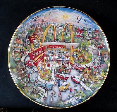 Franklin Mint Porcelain Plate McDonalds Collection Golden Moments Bill Bell 1980