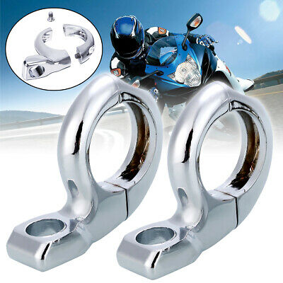 1'' handleBar Turn signal Clamp Mirrors Adapter Mount 10mm 8mm For Motorcycle