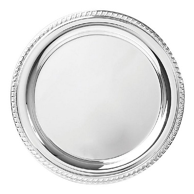 New Heavy Gauge Bright Circle Tray 8 Inch 20Cm Diameter Plain Engravalbe