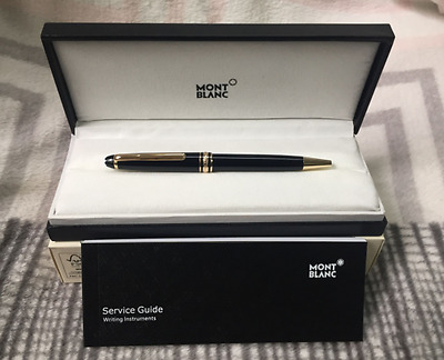 Brand New Montblanc Ballpoint Pen 164 Meisterstuck - Black & Gold w/Box
