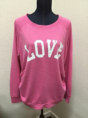 LOVE Maternity Sweatshirt Top Pink Sz XL