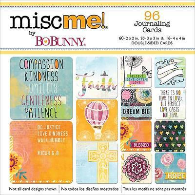 Bo Bunny FAITH Misc Me! Pocket Square Journaling Cards - Scrapbooking